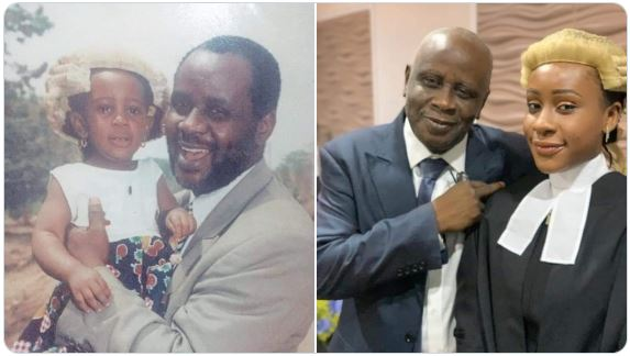 Amazing Before And After Photos Of Nigerian Female Lawyer And Her Dad