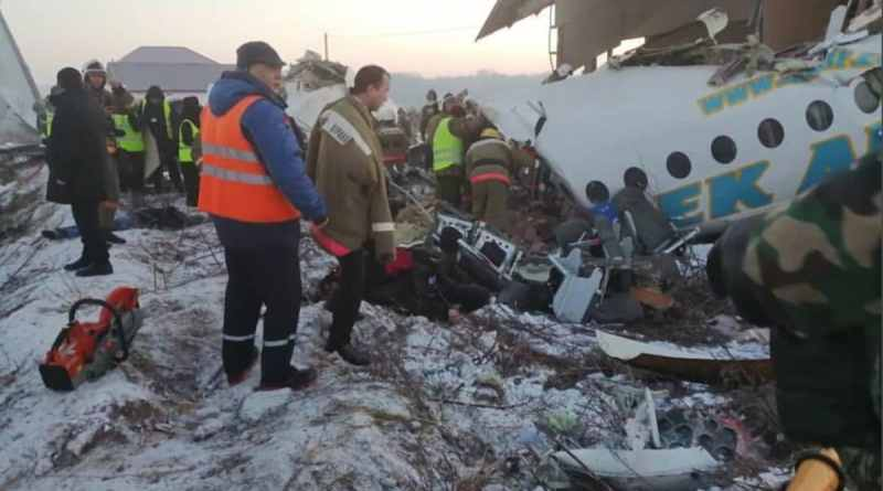 Plane carrying 100 passengers crashes