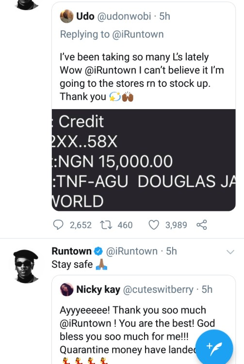 Runtown Gives Away N10 Millions To Fans