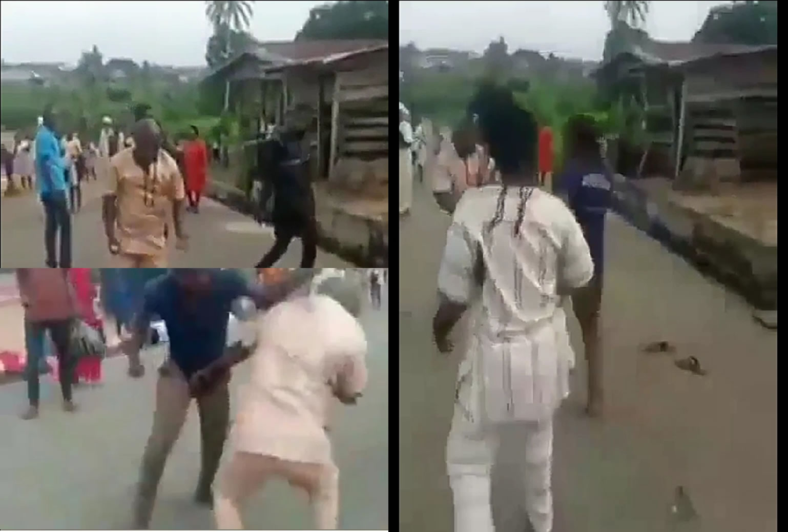 Two Grown Men Fight Over A Woman In Lagos