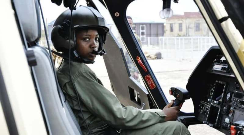 Nigeria first female combat Helicopter Pilot