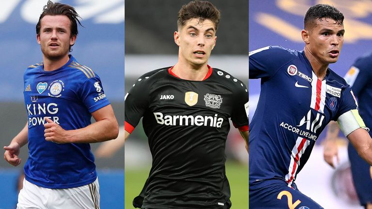 Ben Chilwell, Kai Havertz and Thiago Silva