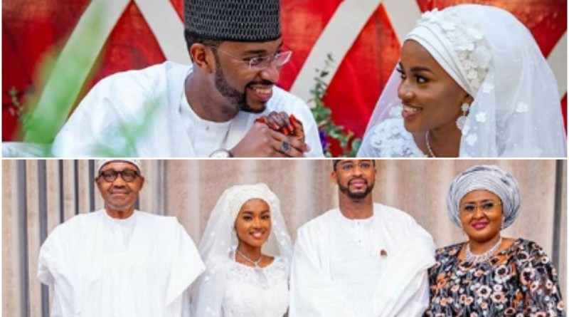 Aisha Buhari finally reacts after being attacked by Nigerians for letting guests spray Naira Notes on daughter during wedding