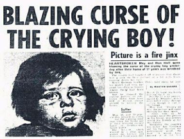 Η απίστευτη κατάρα των έργων «Crying Boy»! 10