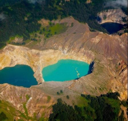 Multi-colored crater lakes of Kelimutu