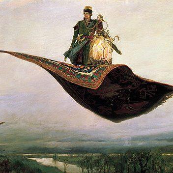 空飛ぶ魔法のカーペットの歴史
