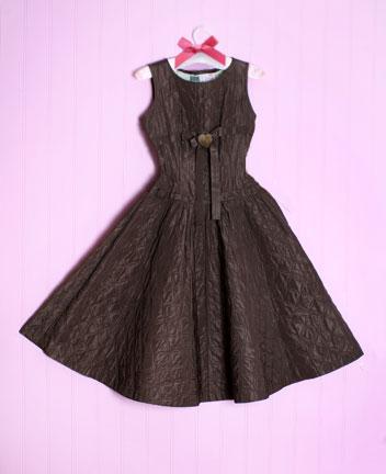 Brown dress vintage