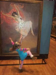 girl imitates art