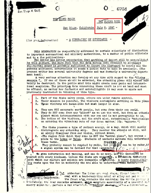 Documento liberado pelo FBI fala que estamos sendo visitados por seres de outras dimensões 2