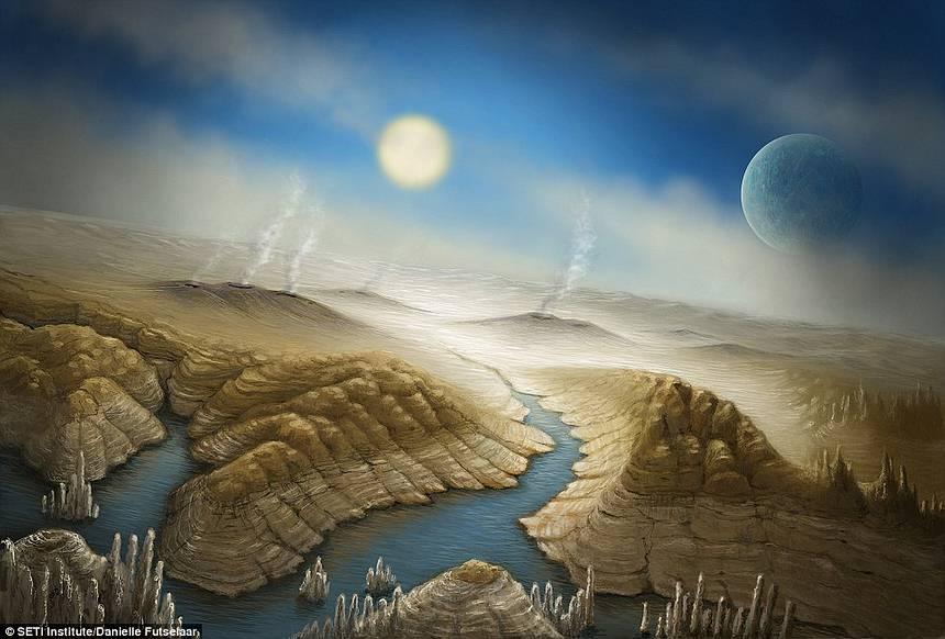 Recreación artística de la superficie de Kepler-452b.