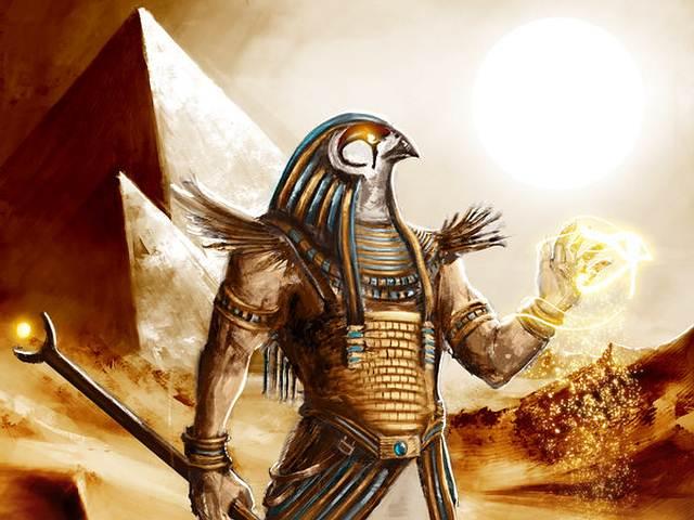 Representación de un Seguidor de Horus (Shemsu Hor).
