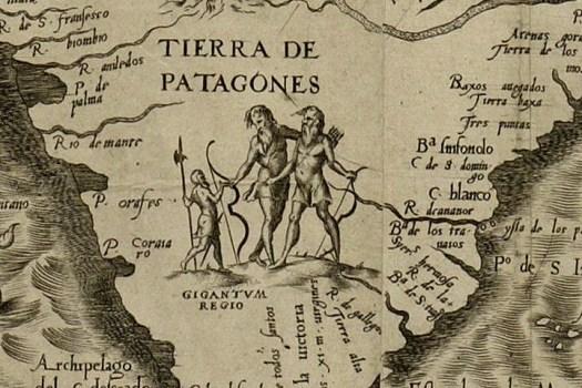 En 1562, Diego Gutiérrez, un cartógrafo español de la respetada Casa de la Contratación, y Jerónimo Cock, un grabador notable de Amberes, colaboraron en la preparación de un espectacular y ornamentado mapa de lo que en aquel entonces se refería como la cuarta parte del mundo, América. La Patagonia es rotulada como una «región de gigantes».