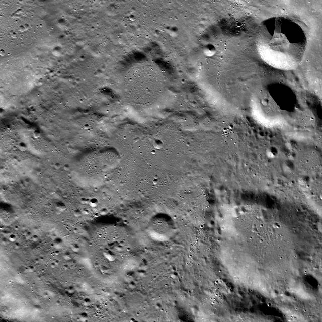 Vikram Lander Image of the site where Vikram was supposed to land before the attempt of the Indian mission. Credit: NASA / Goddard / Arizona State University.