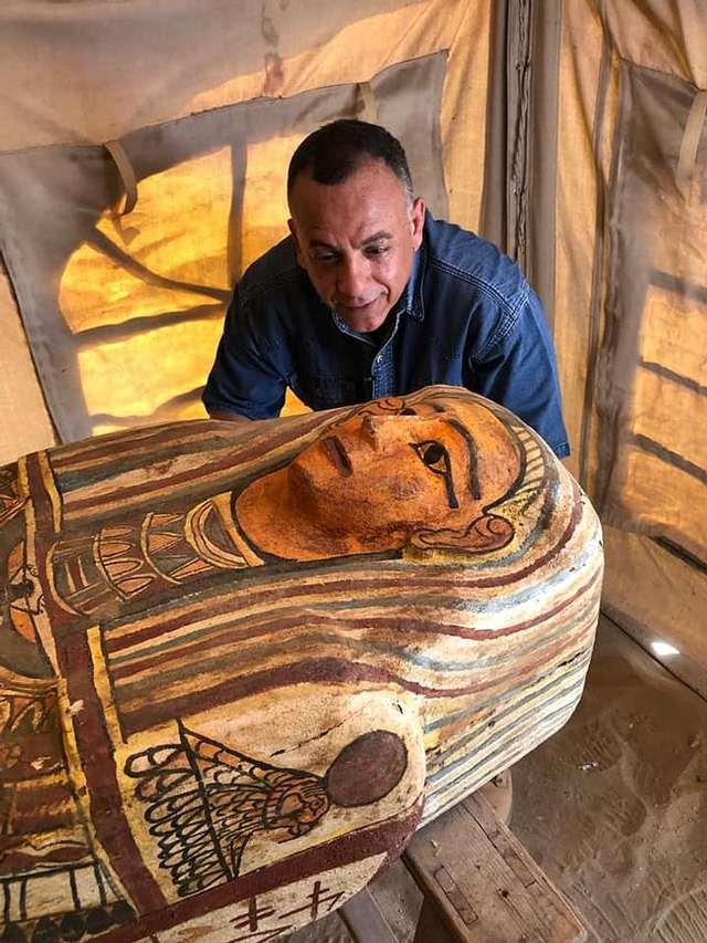 Ataúd egipcio de 2.500 años de antigüedad.