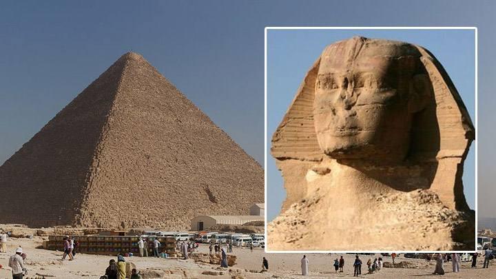 Gran Pirámide. Gran Esfinge.
