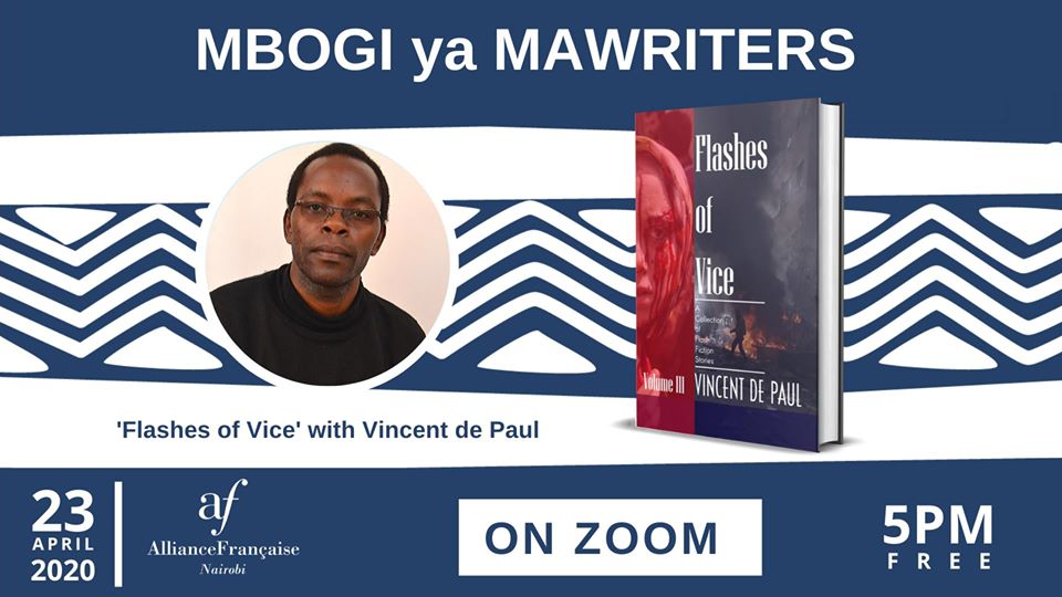 Book Reading   Flashes of Vice: Vol III by Vincent de Paul on ZOOM