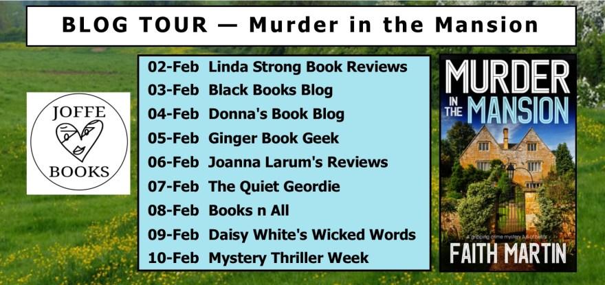 Blog Tour BANNER - Murder in the Mansion