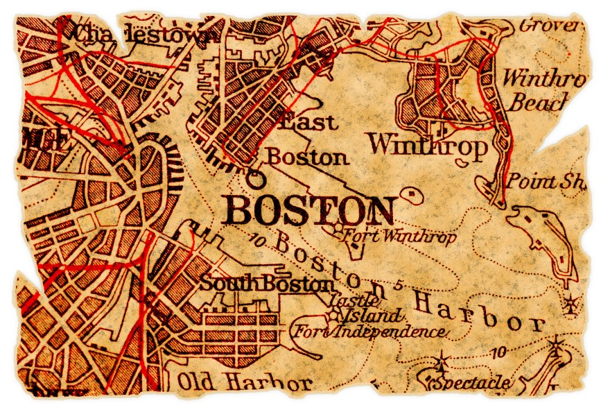 Boston old map