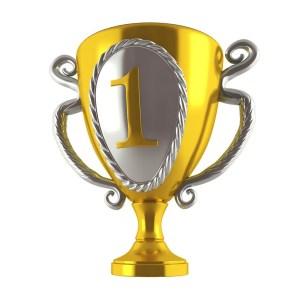Trophy number one image golden