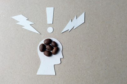 The effects of caffeine on the brain image from coffee beans