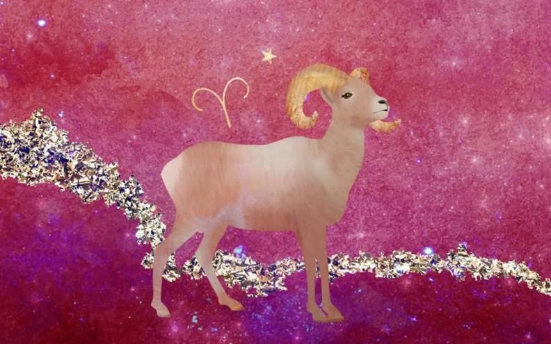 Aries zodiac illustration
