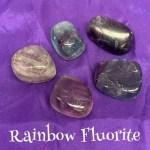 Rainbow Fluorite Tumbled