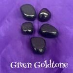 tumbled Green Goldstone crystal
