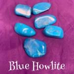 tumbled blue howlite crystal