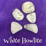 tumbled white howlite crystal