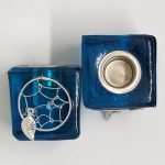 Dreamcatcher Wish Candle Holder Blue