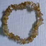 Crystal Chip Bracelet Rutilated Quartz