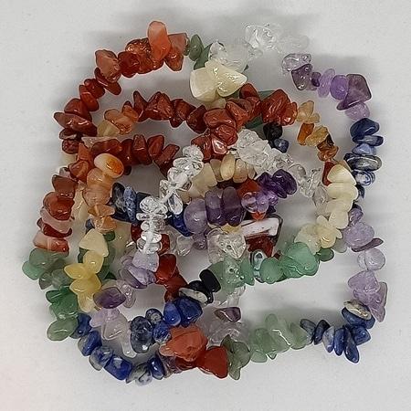 crystal chip bracelets Seven Chakra