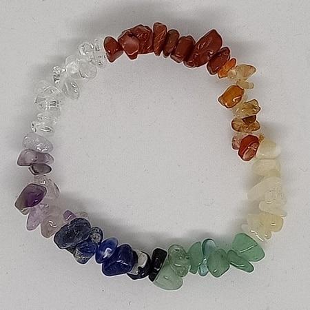 crystal chip bracelet Seven Chakra