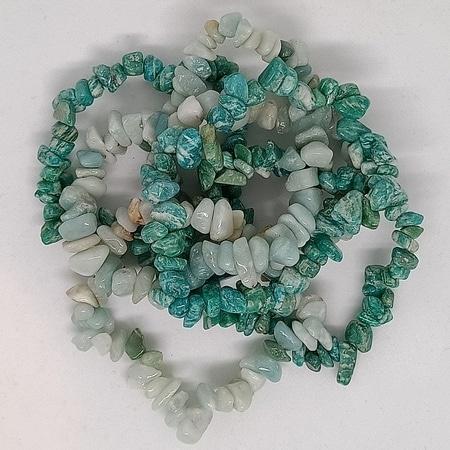 crystal chip bracelets Amazonite