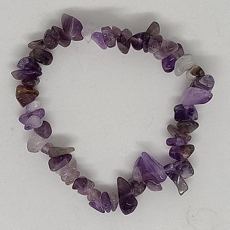 crystal chip bracelet Amethyst