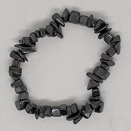 crystal chip bracelet Hematite
