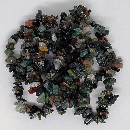 crystal chip bracelets Moss Agate