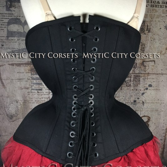 MCC-104 Black Cotton underbust corset-816