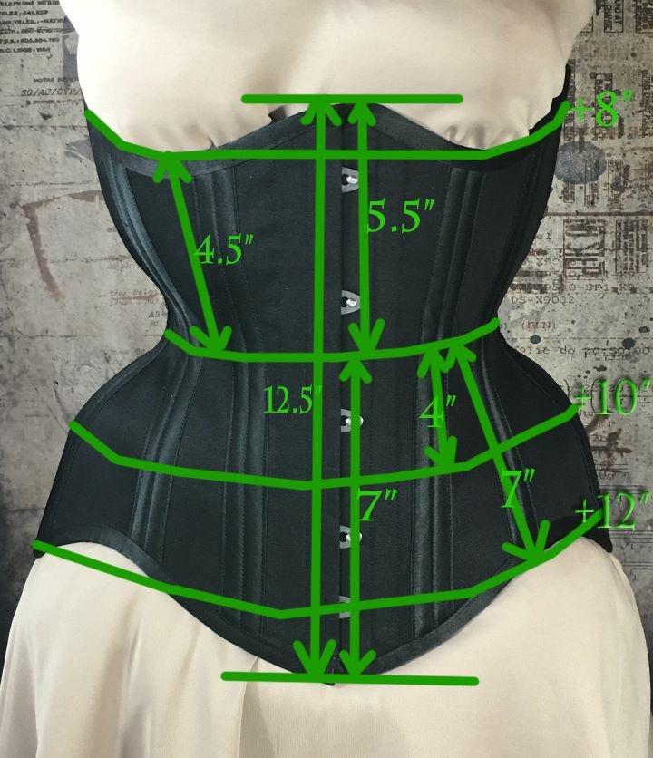 MCC69 Brocade Underbust corset