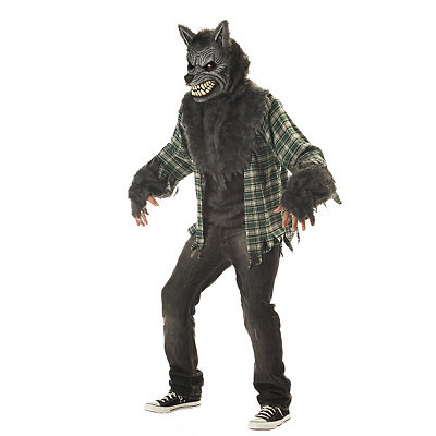Auto Animated Mouth Moving Werewolf Costume