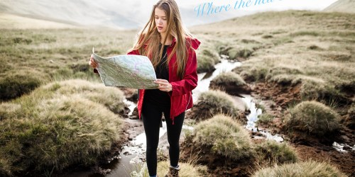 girl with map