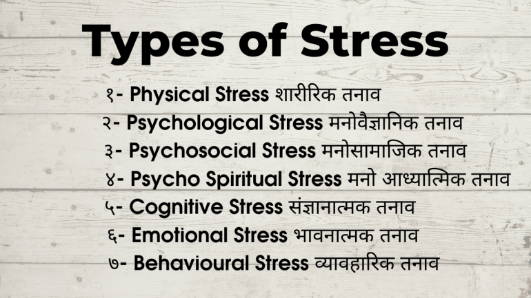 How to Reduce Stress in Hindi/ Types of Stress in Hindi Images