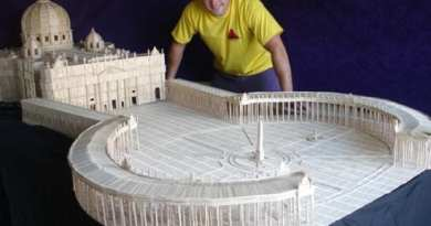 Man builds Model of St Peter's Basilica with 36,000 toothpicks