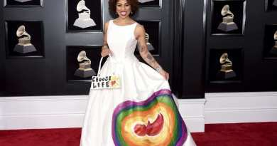 Singer at Grammys Shocks… Wears Pro Life Dress on Red Carpet…Powerful Statement