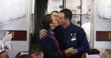 Pope Francis has celebrated the first-ever airborne papal wedding..Marries Flight Attendants