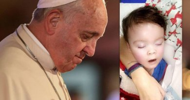 "Pope Francis renews appeal for Alfie Evans…""the only author of life, from its beginning to its natural end, is God."""