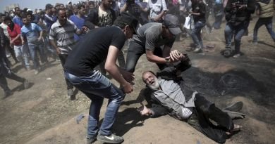 Signs!…Israeli soldiers on Monday killed 37 Palestinians demonstrating along the border fence
