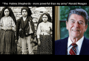 When US President Reagan said: the 3 little shepherds of Fatima are more powerful than my army