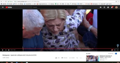 On September 2, 2018 Mirjana is Set to Appear at Blue Cross But is She in Too Much Pain.. Drama at 5:20 Video July 2, Apparition…Secrets Near?