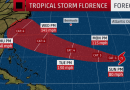 Hurricane Florence Expected to Rapidly Intensify;  Track forecast: Very dangerous for the U.S. East Coast
